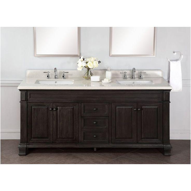 Abel 72 Inch Distressed Double Single Sink Bathroom Vanity Marble Top From 72  Inch Bathroom Countertop