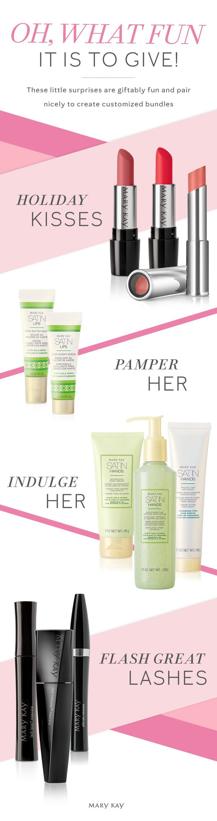 Stocking stuffers to knock her stocks off! Share a little joy with pampering products she'll love all year long. | Mary Kay