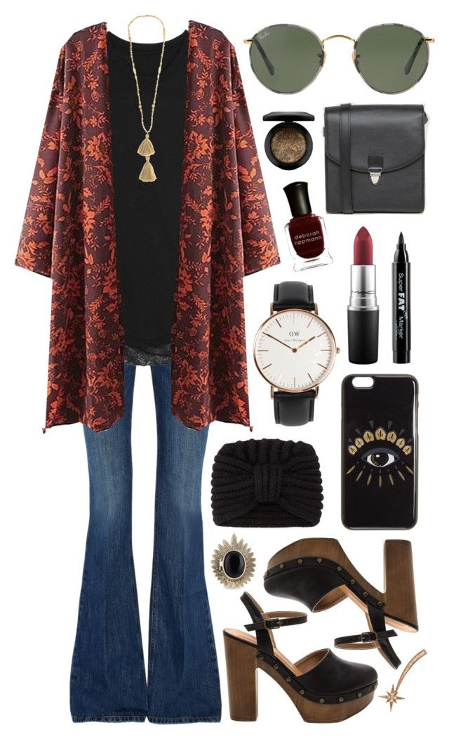 """""""Untitled #612"""" by clary94 ❤ liked on Polyvore featuring dVb Victoria Beckham, Raquel Allegra, Isabel Marant, Ray-Ban, Rosie Sugden, Monki, Kenzo, Daniel Wellington, House of Harlow 1960 and MAC Cosmetics"""