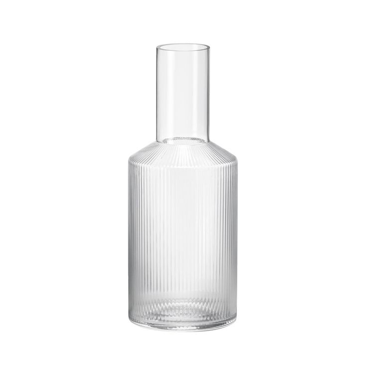 Ripple Carafe: This beautiful mouth-blown carafe takes a traditional ripple design and gives it a contemporary look.  Fill with water, juice or your favourite drink and pour into the matching set of glasses for a stylish way to serve.