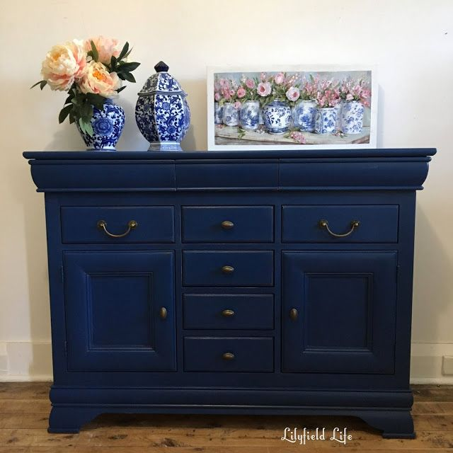 553 best lilyfield life painted furniture images on pinterest for Navy blue painted furniture