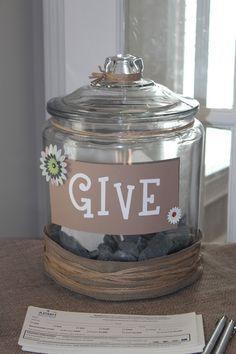 donation jar wording - Google Search