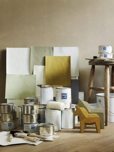 Tips att måla med äggoljetempera. Måla köksbordet i det. Ovolin-väggfärg