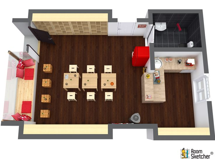 17 best images about commercial design with roomsketcher on pinterest home design planning an. Black Bedroom Furniture Sets. Home Design Ideas