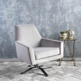 Shop for Ailis Velvet Fabric Swivel Club Chair by Christopher Knight Home. Get free shipping at Overstock.com - Your Online Furniture Outlet Store! Get 5% in rewards with Club O! - 20008421