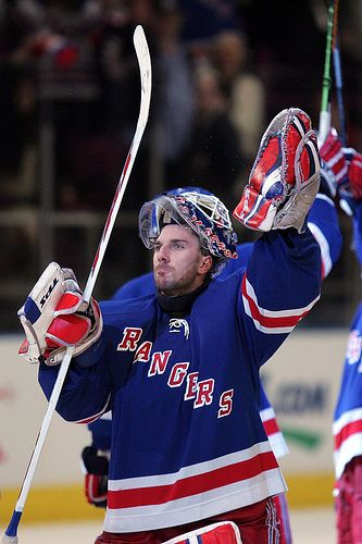 We are a Rangers' hockey household;  Though any hockey is better than none... behold the King...