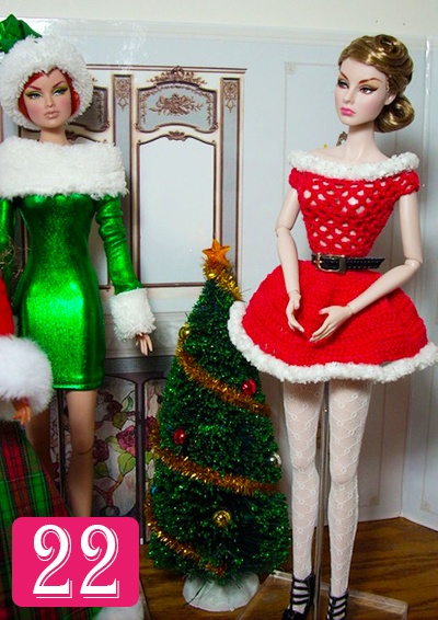 #FashionDoll #AdventCalendar Day 22. Photo courtesy of member Patty