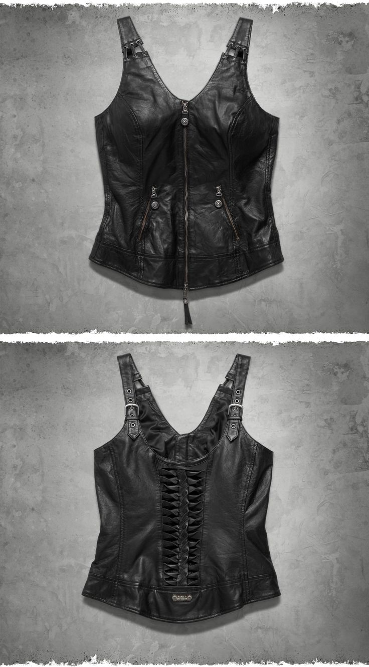 A sassy leather vest is a wardrobe must for every lady enthusiast. | Harley-Davidson Women's Kindred Leather Vest