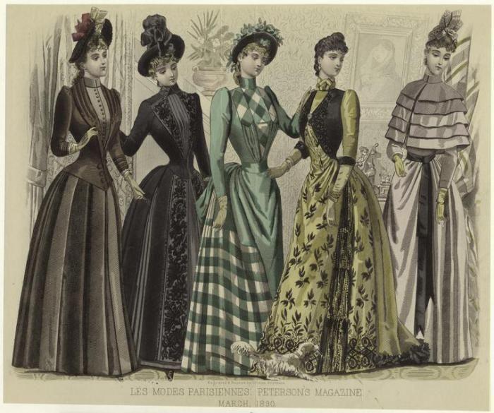 Закрытые платья Викторианской эпохи.