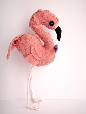 Adorable flamingo by Skunkboy Creatures