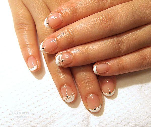#wedding #nails #white #lace