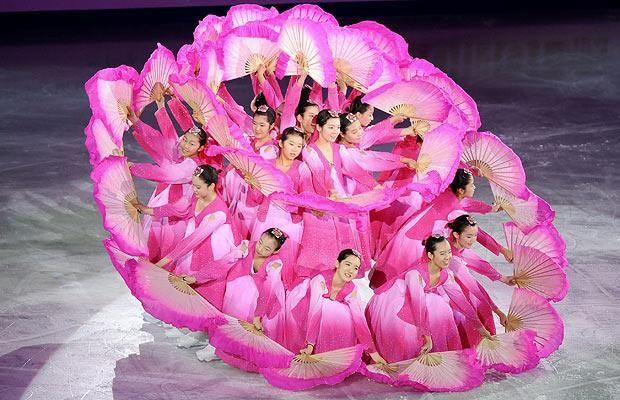 전통 부채 춤Traditional South Korean fan dance