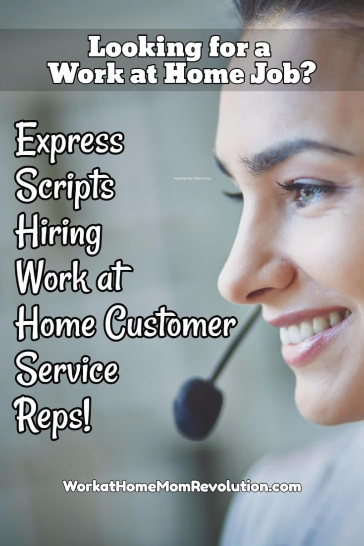 Express Scripts is hiring work at home customer service in North Carolina and Georgia. You must have your high school diploma or its equivalent.  Benefits. If you are seeking a work from home job in NC or GA, this might be the perfect opportunity for you! Awesome home-based job with established company! You can make money from home!
