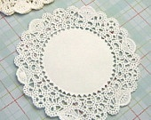 25 Small White Paper Lace Doilies 4 inches