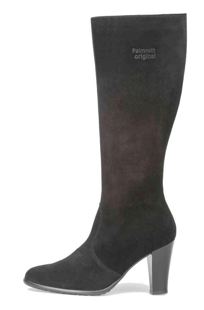 Palmroth high heel boot black suede