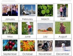 Montessori-Inspired Months and Seasons Work with links to free printables (Image from http://www.montessoriforeveryone.com/Cultural-Materials_ep_61-1.html  Post from http://livingmontessorinow.com/2011/01/03/activity-of-the-week-montessori-inspired-months-and-seasons-work/#)