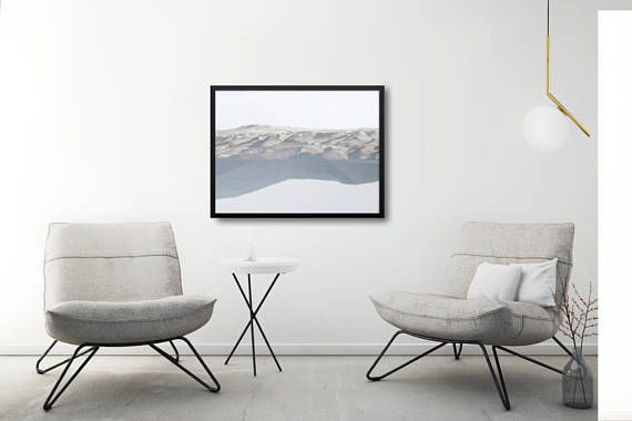 Minimal landscape poster in a neutral color pallete. Beautiful double exposure composition of mountains and forest. +++ #wallart #walldecor #scandi #framed #poster #abstract #photodecor #kacixart