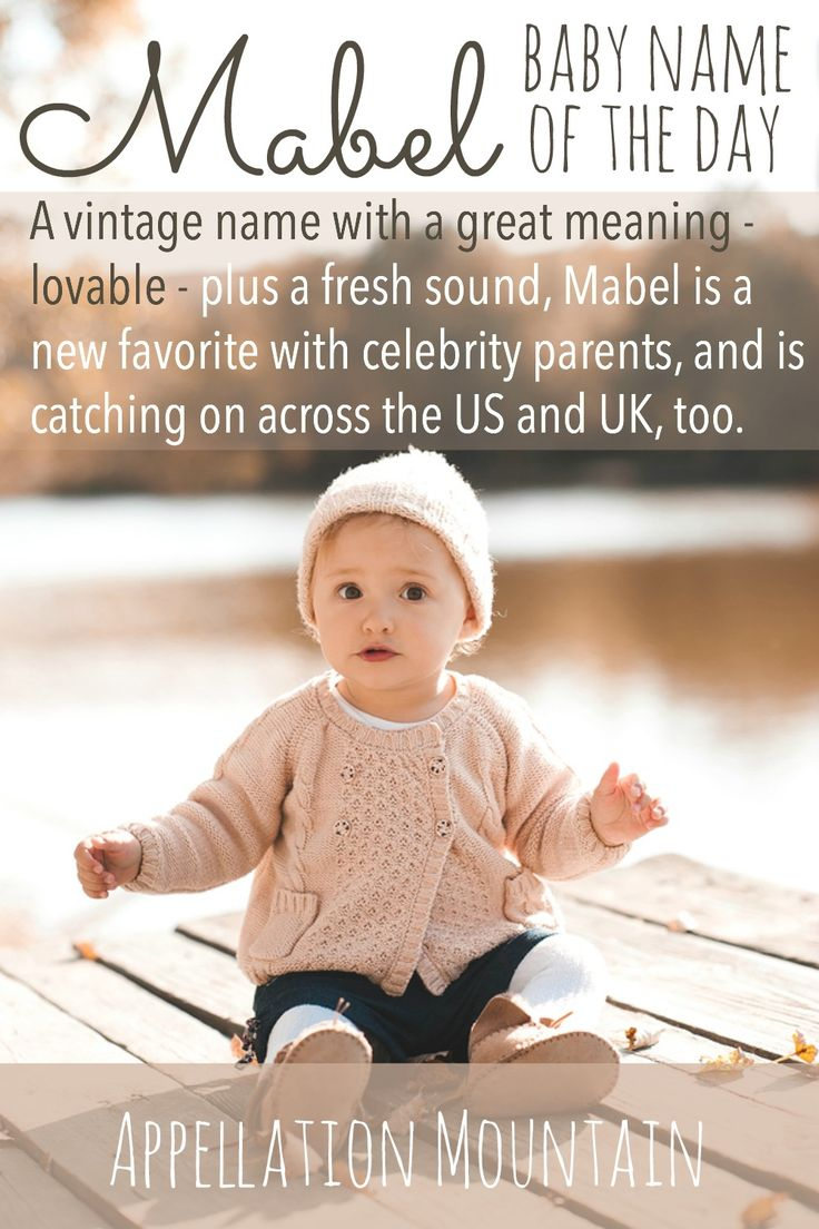 Vintage Mabel feels like a name ready for revival. If you love antique girl names with great meanings and style to spare, Mabel might belong on your shortlist.