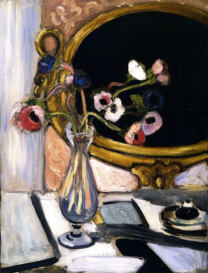 Henri Matisse: Anemones and Mirror, circa 1920.