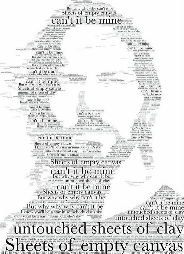 Eddie Vedder. Made using the lyrics from Black by Pearl Jam.