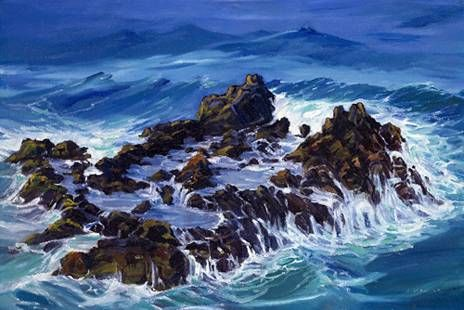 """""""Winter Surge"""" by Janet Spreiter at Maui Hands"""