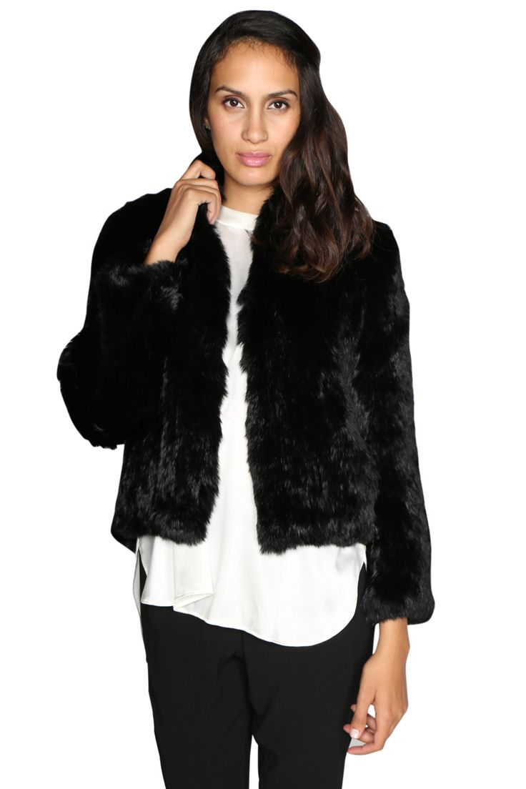 Luxe Deluxe - Lush Fur Jacket In Black