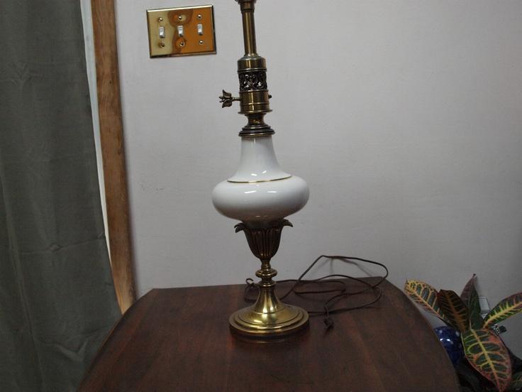 antique stiffel solid brass lenox porcelain lamp hollywood regency. Black Bedroom Furniture Sets. Home Design Ideas
