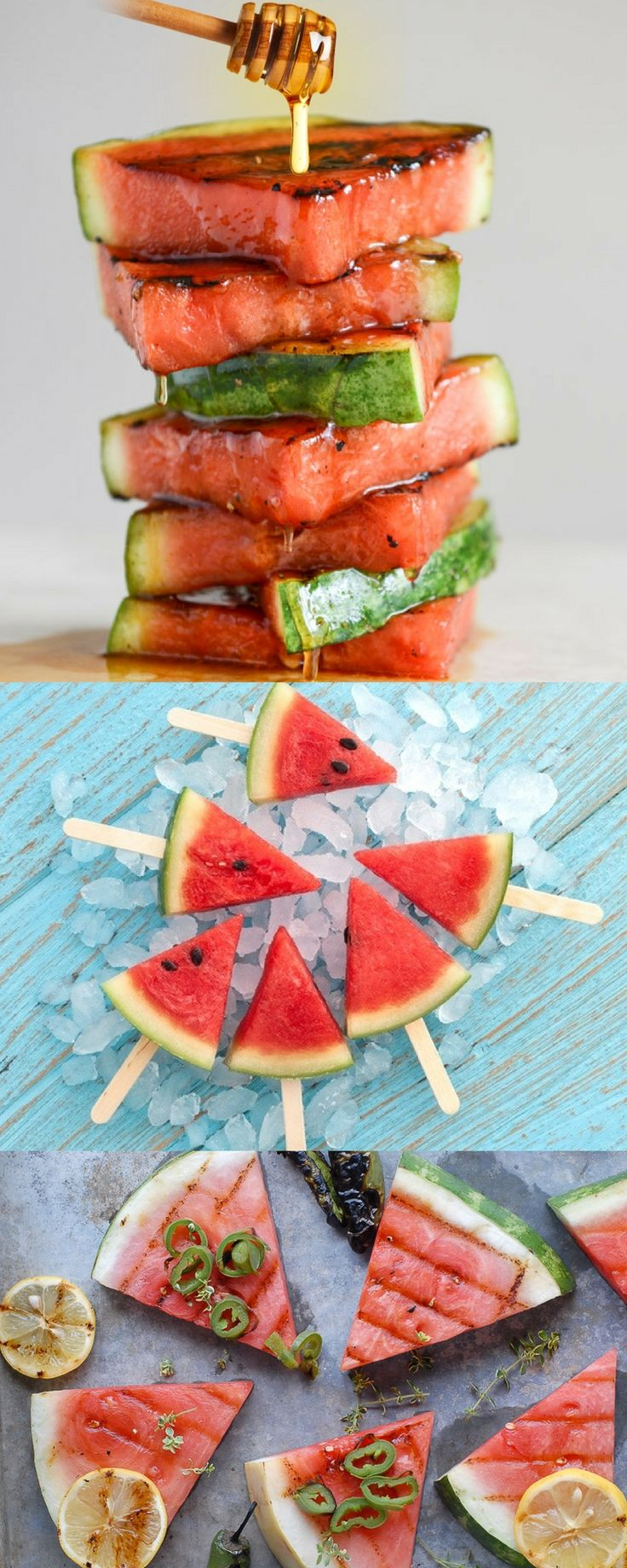 Grill Lovers' Amazing Honey-Glazed Grilled Watermelon Recipe #recipes #foodporn…