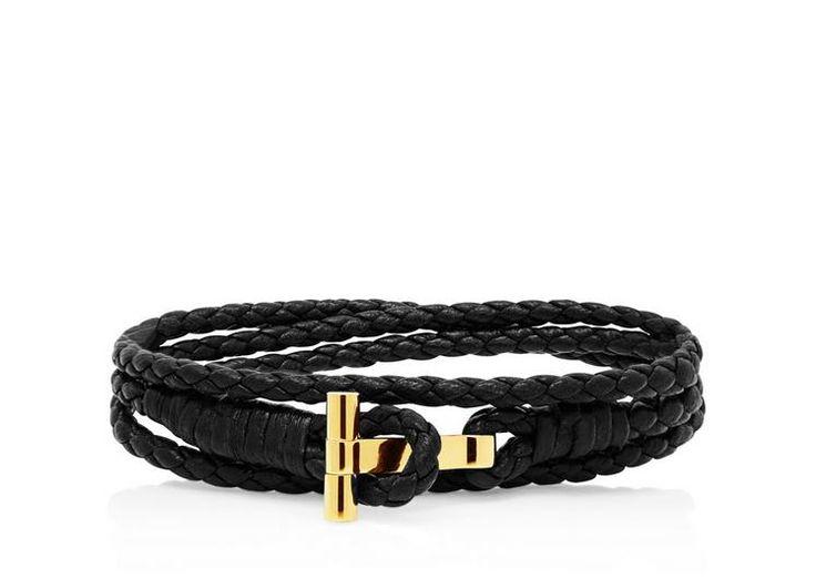Gold Braided Wrap T Bracelet