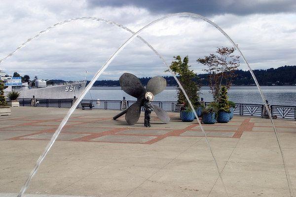Bremerton, WA...  Dancing Fountains