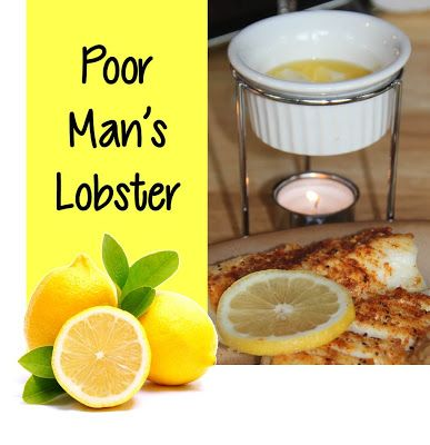 "Poor Man's Lobster - What a great meal to put together for a dinner party or just a quiet night at home. The way this is prepared brings out the freshness in the cod with no ""fishy"" taste. It really does taste like lobster! {BitznGiggles.com}"