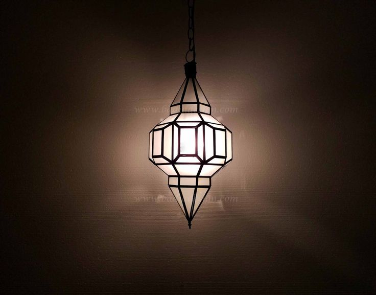 Hanging Lantern With Multicolor Glass