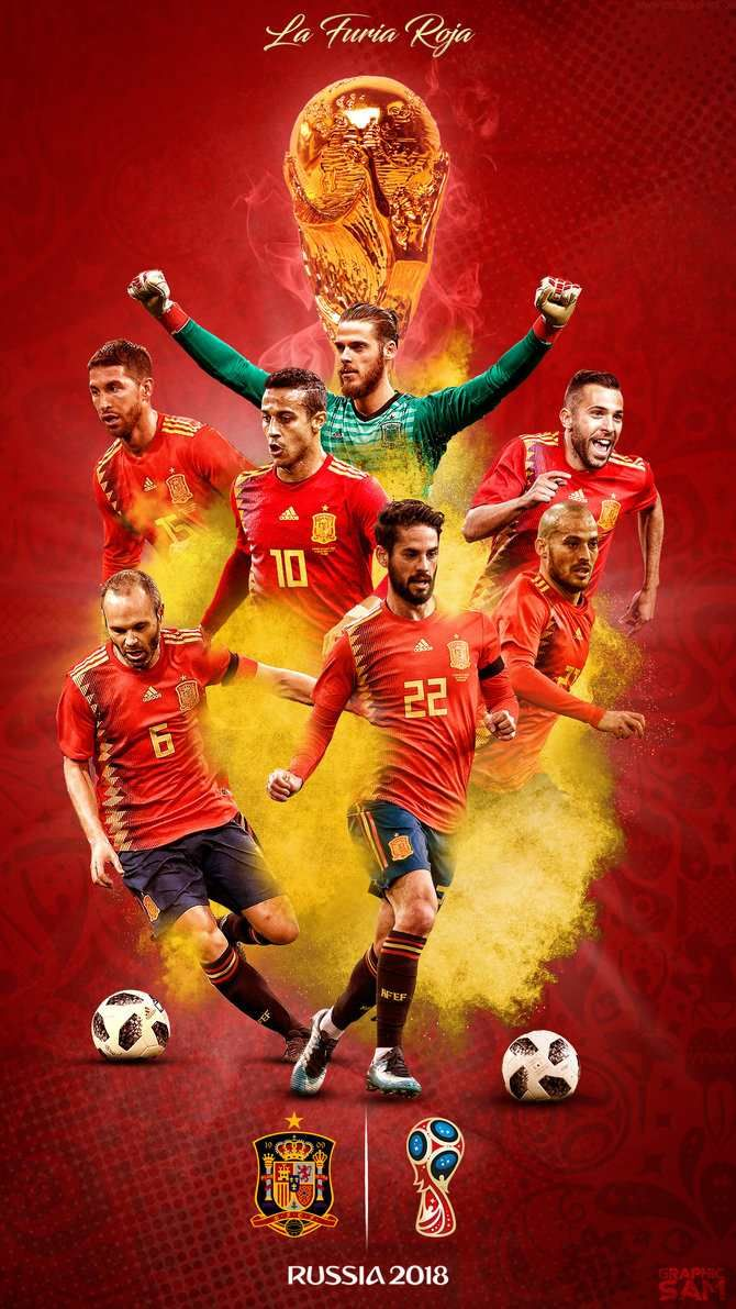 Spain 2018 Hd Football Wallpaper スペイン サッカー サッカーワールドカップ ワールドカップ