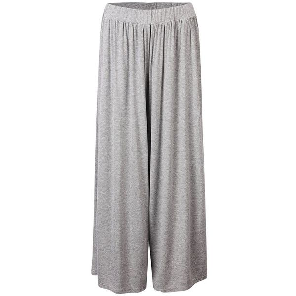 Casual Sport Elastic Waist Cotton Palazzo Pants For Women ($25) ❤ liked on Polyvore featuring pants, elastic waist pants, patterned palazzo pants, cotton palazzo pants, patterned pants and print pants