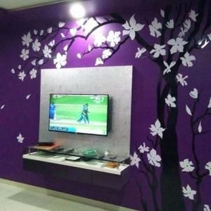 86 Beautiful Wall Painting Designs For Living Room 73 Wall Paint Designs Wall Paint Colour Combination Wall Stencil Living Room #wall #painting #stencils #for #living #room