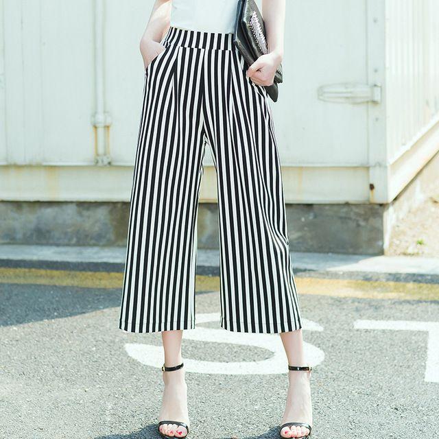 Personnaliser Femmes Casual plissé mousseline de soie jambe Large pantalon Lâche chic Palazzo Salon pantalon Noir blanc rouge bleu violet pantalon