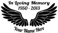 In Loving Memory Angel Wings Sticker