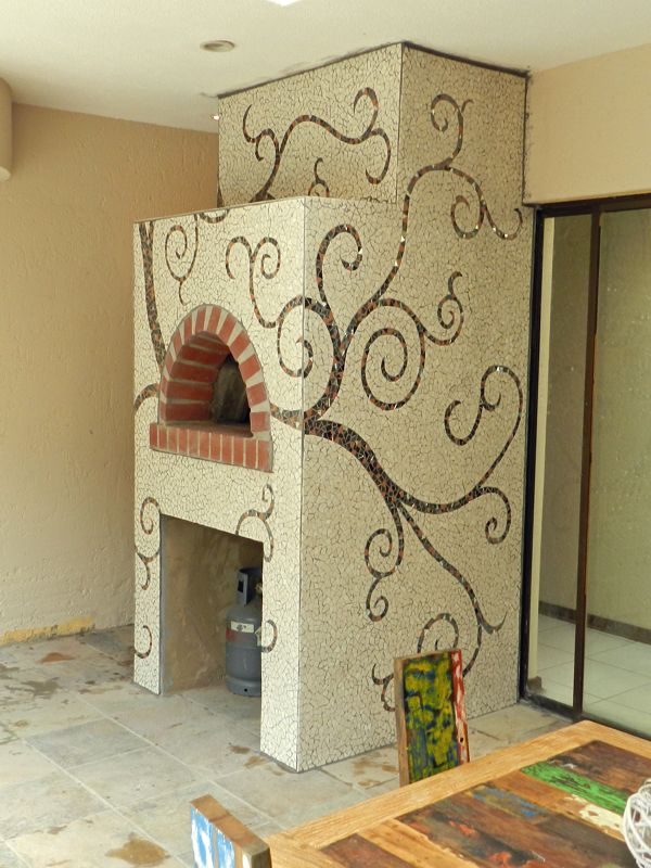 Mosaic Pizza Oven Twirls in Natural colors JHB