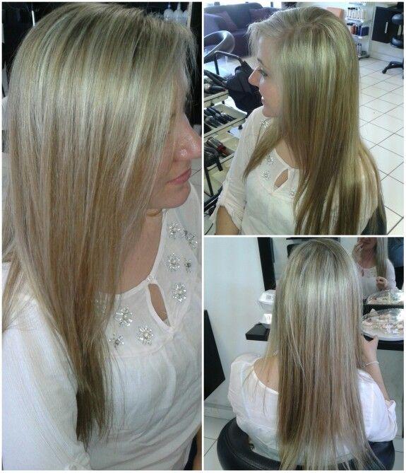 Blonde and light brown highlights #duethairdesign