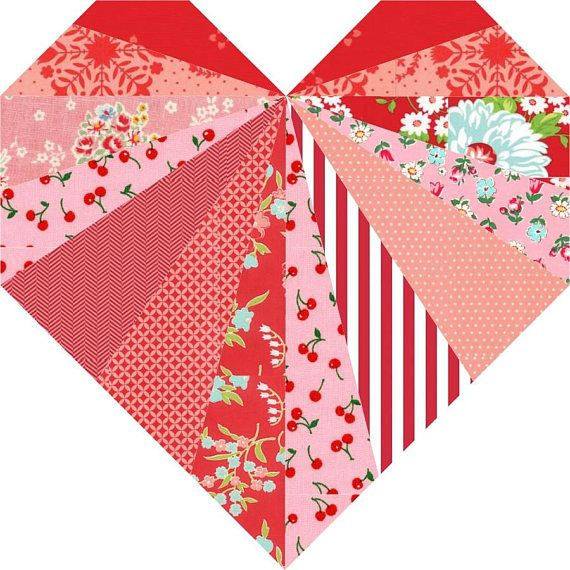 Spread the Love paper pieced PDF quilt block pattern Finished size options included in the pattern: 6 x 6 and 12 x 12 quilt blocks. Spread some love with this unique heart quilt block featuring radiating beams of love. The Spread the Love quilt block pattern is a beginner to