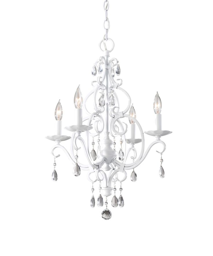 chateau blanc semi gloss white four light mini crystal chandelier feiss candles without sh