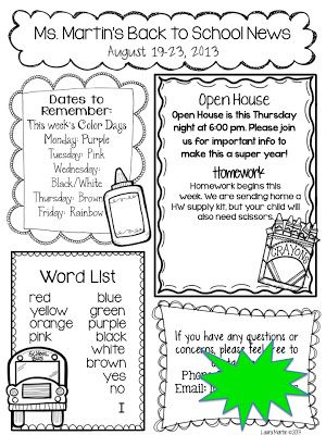 Best 25+ Weekly Newsletter Template Ideas On Pinterest | Classroom