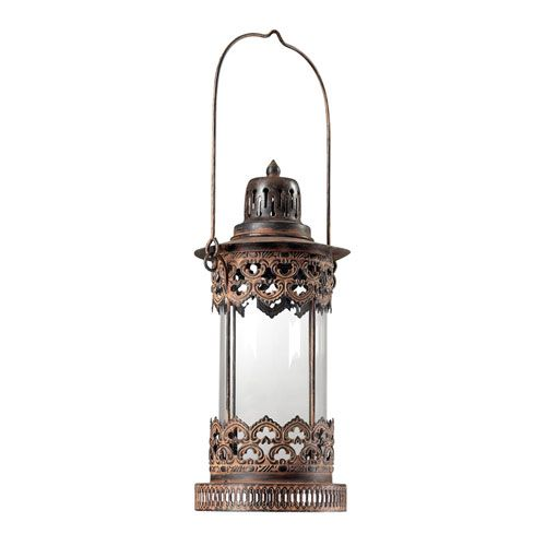 Neves Metal Round Candle Lantern Sterling Industries Indoor Candle Lanterns Candle Lantern