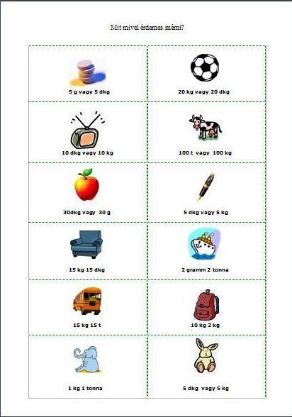 Játékos tanulás és kreativitás: Tömegmérés játékosan