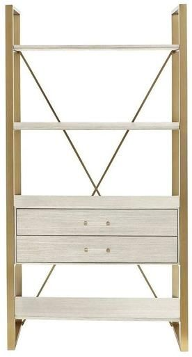 Bookcase Stanley Furniture Harwell X Back Oyster Binnacle Brass