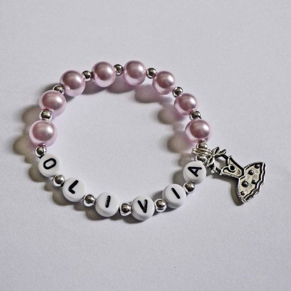 Children's Jewelry Bracelet PERSONALIZED With Ballet Charm