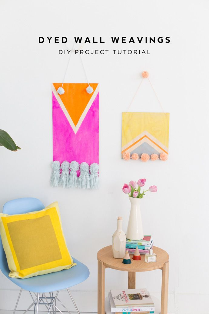 Transform any space with these vibrant DIY dyed wall weavings. With minimal materials and prep, your walls will be popping with color thanks to this project from Handmade Charlotte.