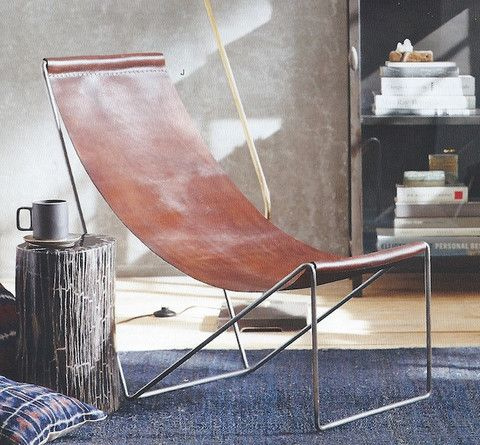 Roost Arlo Leather Sling Chair   Modish Store