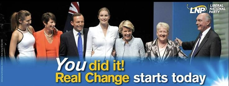 Leader of the National Party Warren Truss' updated cover photo after Election Night