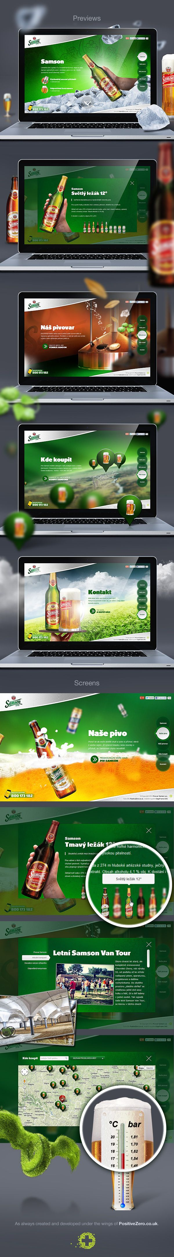 Samson brewery   ***   Mother web of the most known Czech non alcoholic beer Pito, brewery Samson. Samson is back on track! It celebrates its comeback with cooperating with our digital agency. This is how the perfect single scrolling web is born. So make a toast!   ***  by PositiveZero.co.uk , via Behance *** Other works: http://www.behance.net/positivezero
